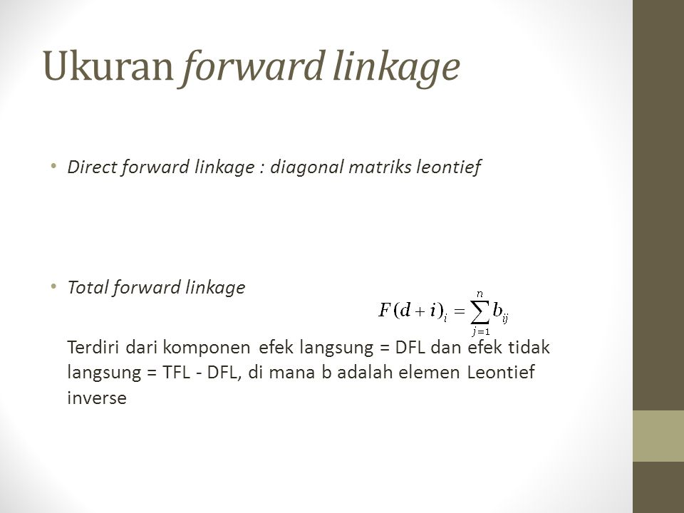 Ukuran forward linkage