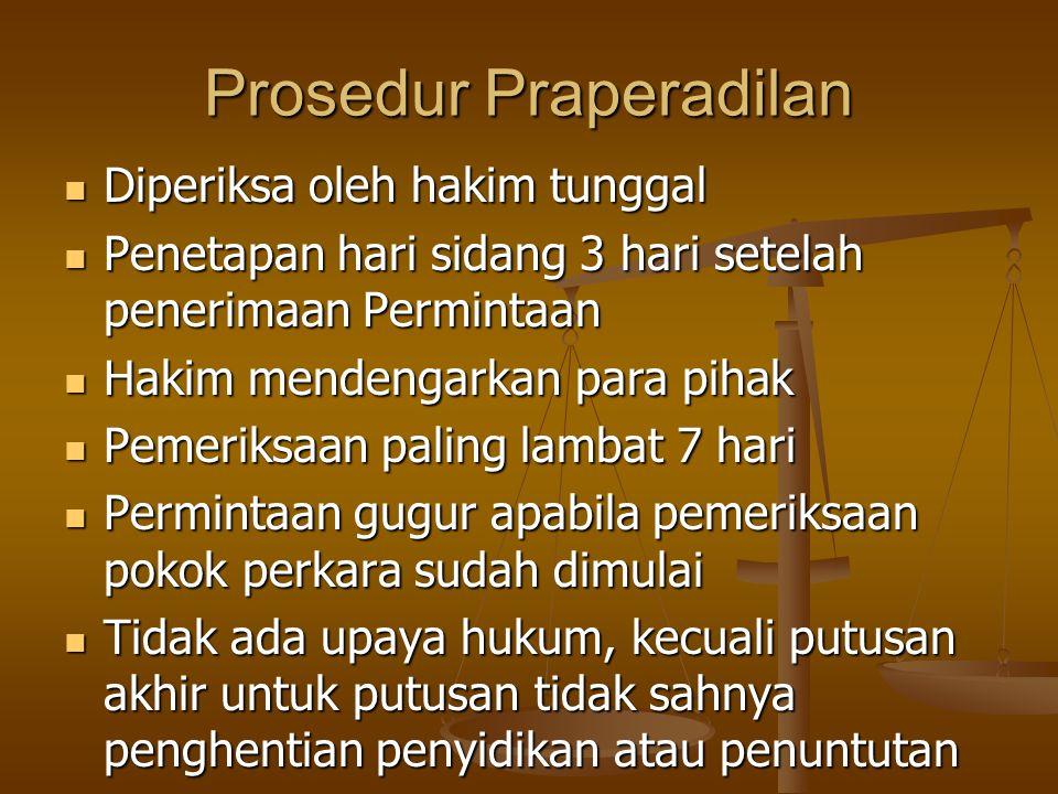 Prosedur Praperadilan