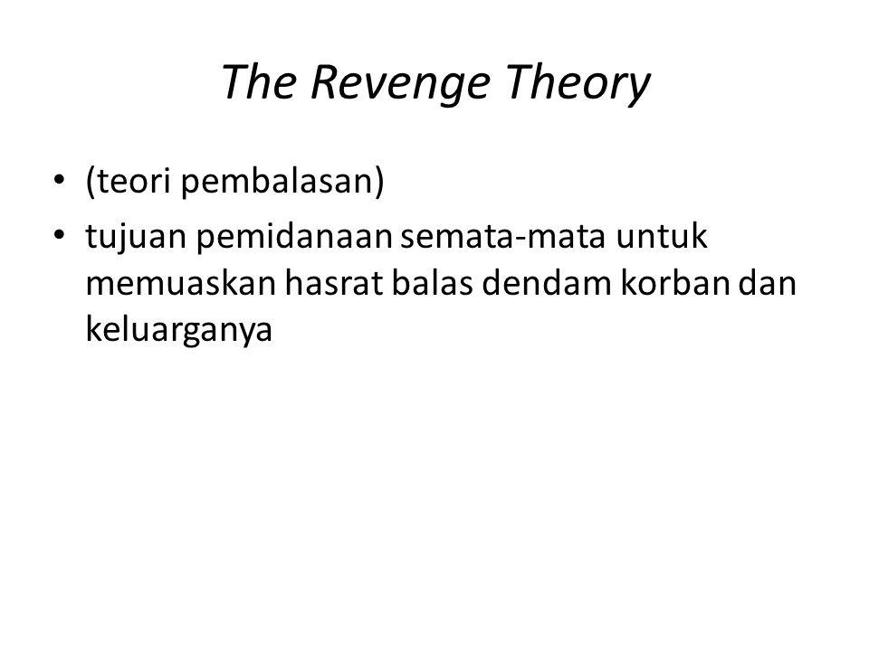 The Revenge Theory (teori pembalasan)