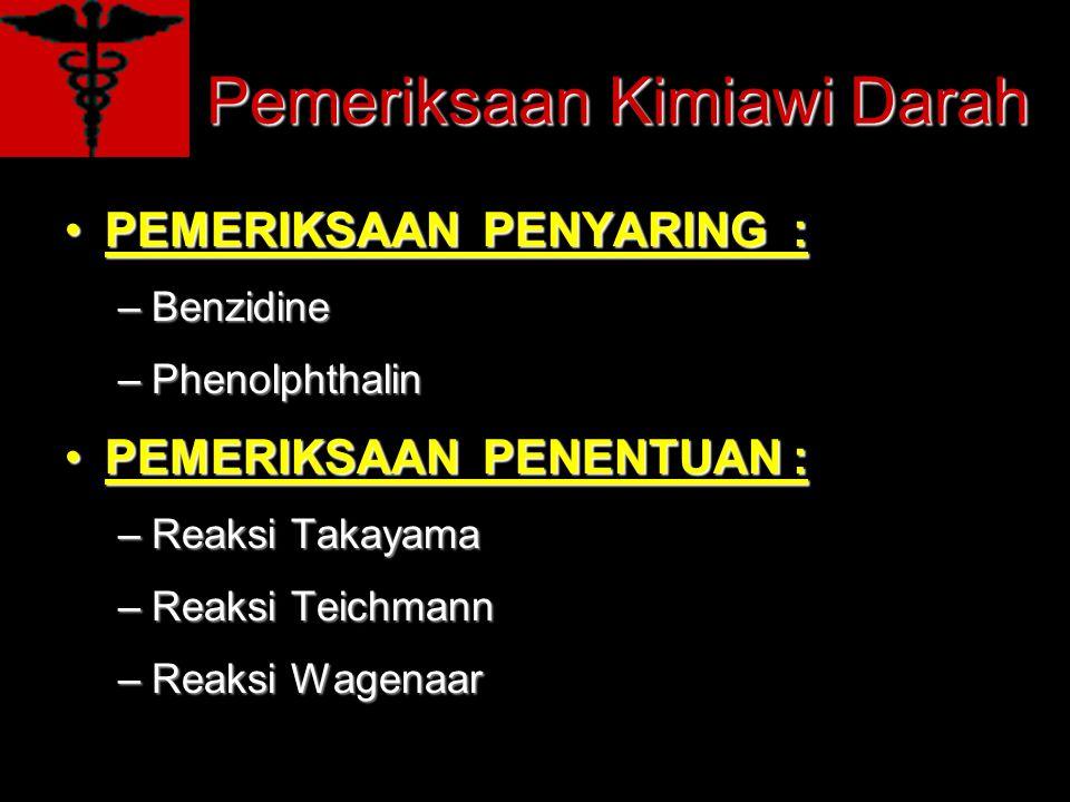Pemeriksaan Kimiawi Darah