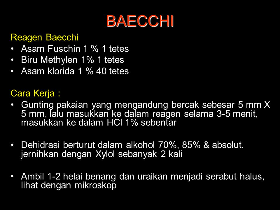 BAECCHI Reagen Baecchi Asam Fuschin 1 % 1 tetes