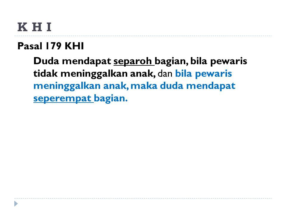K H I Pasal 179 KHI.