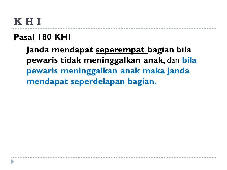 K H I Pasal 180 KHI.