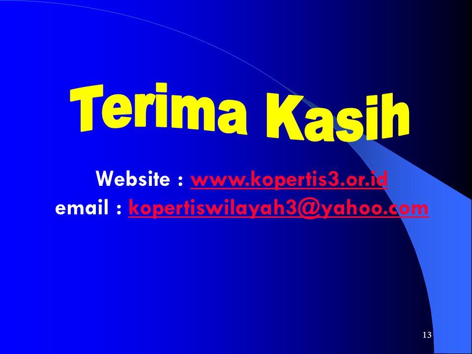 Terima Kasih Website : www.kopertis3.or.id email : kopertiswilayah3@yahoo.com