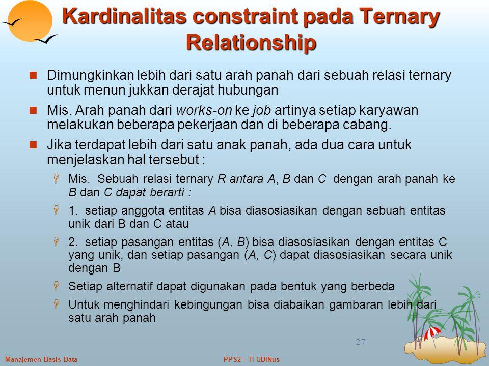 Kardinalitas constraint pada Ternary Relationship