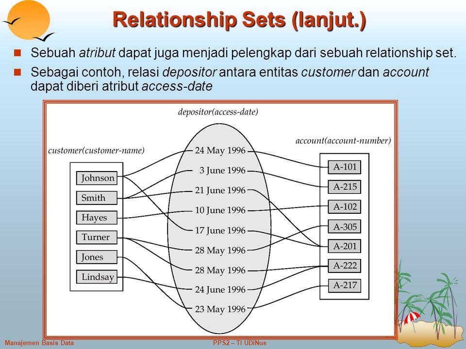 Relationship Sets (lanjut.)