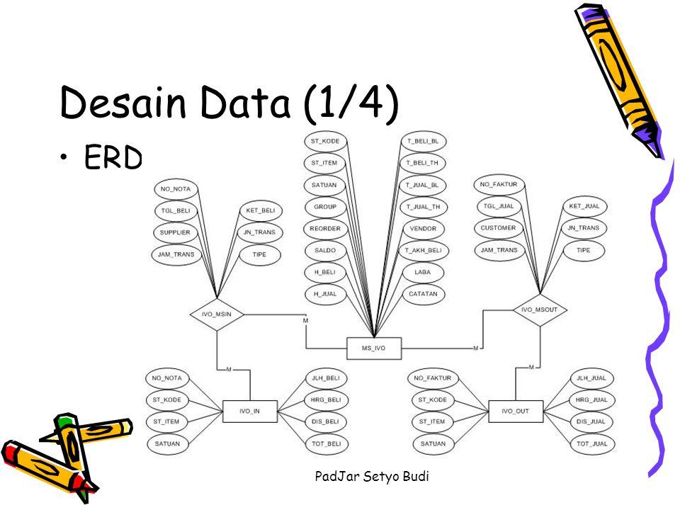 Desain Data (1/4) ERD PadJar Setyo Budi