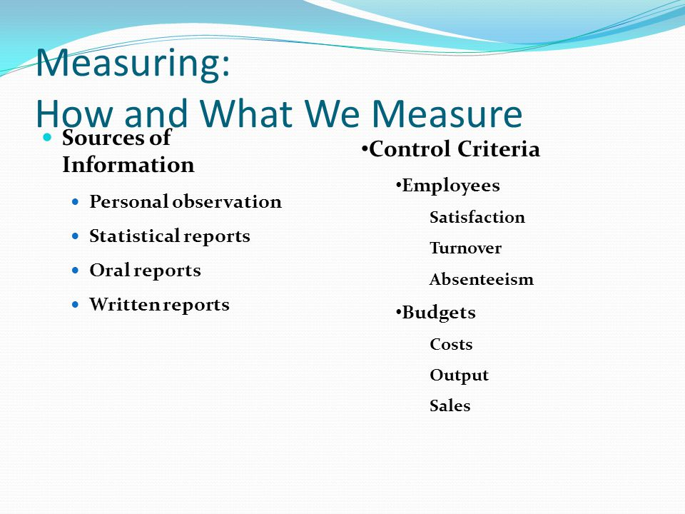 Measuring: How and What We Measure