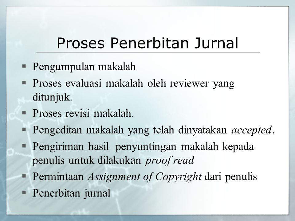 Proses Penerbitan Jurnal