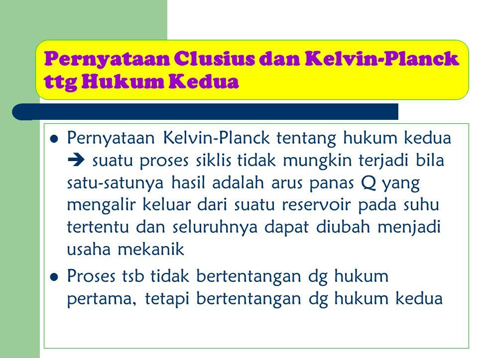 Pernyataan Clusius dan Kelvin-Planck ttg Hukum Kedua