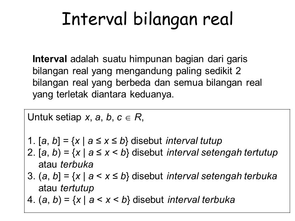 Interval bilangan real