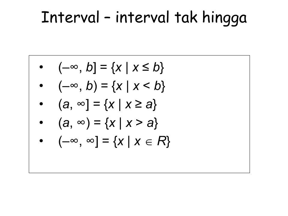 Interval – interval tak hingga