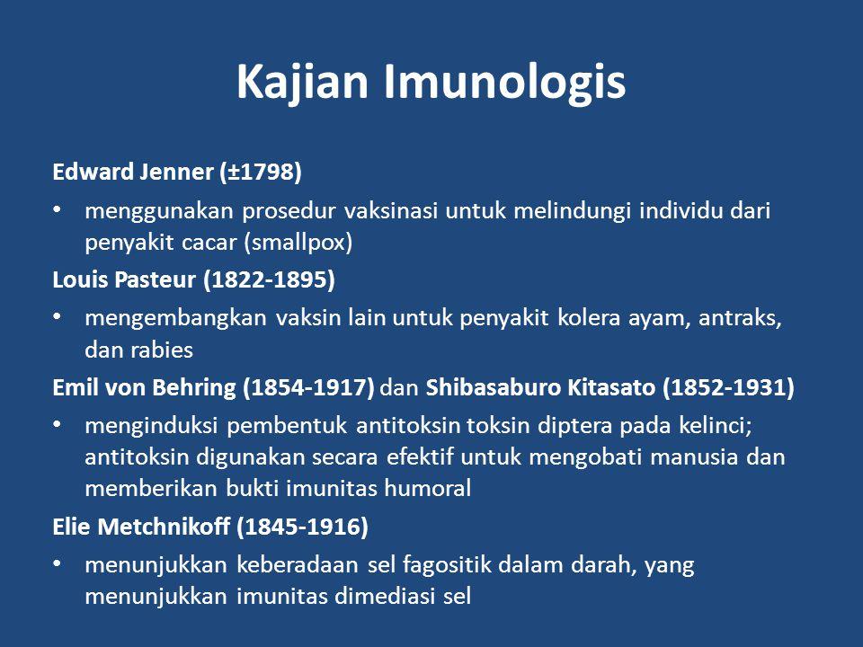 Kajian Imunologis Edward Jenner (±1798)