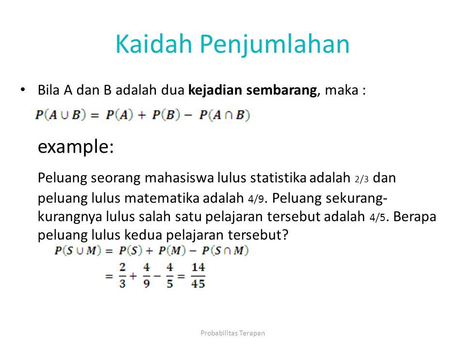 Kaidah Penjumlahan example: