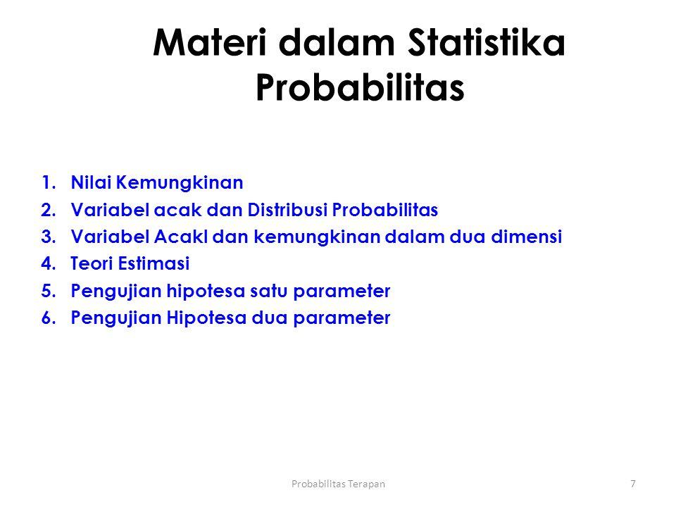 Materi dalam Statistika Probabilitas