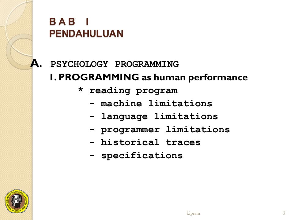 A. PSYCHOLOGY PROGRAMMING