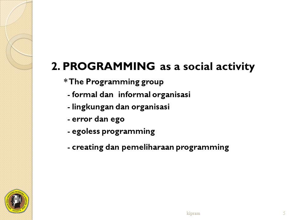2. PROGRAMMING as a social activity