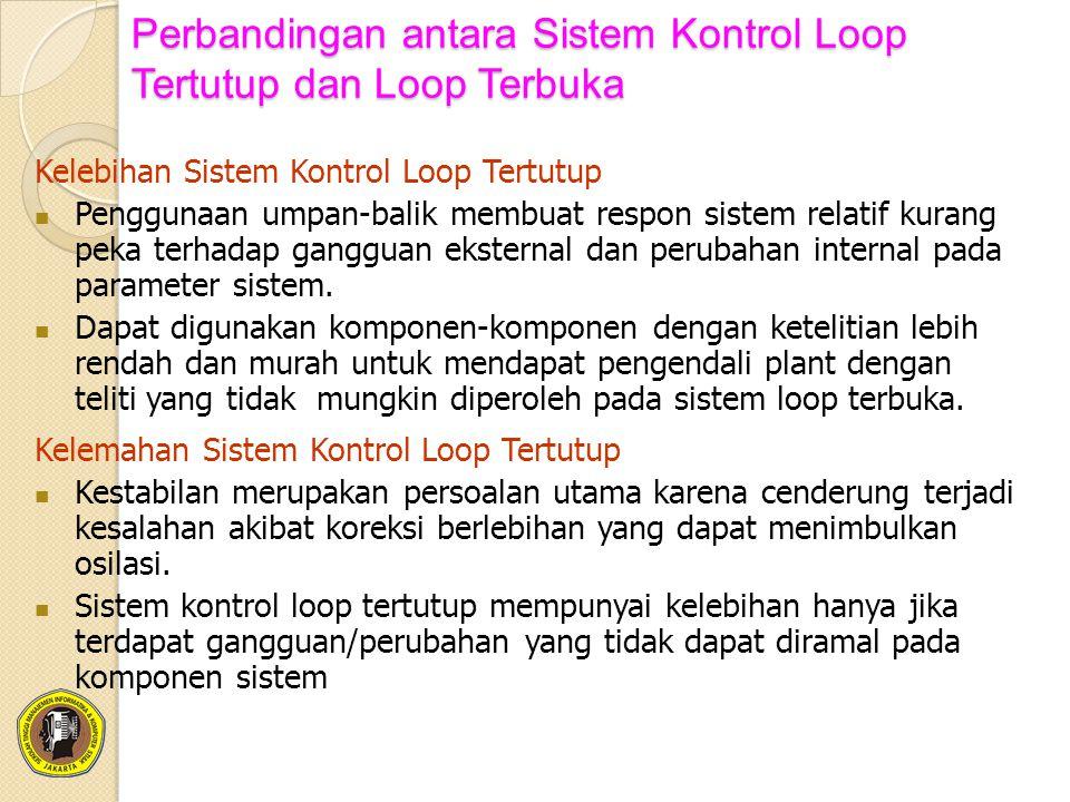 Perbandingan antara Sistem Kontrol Loop Tertutup dan Loop Terbuka