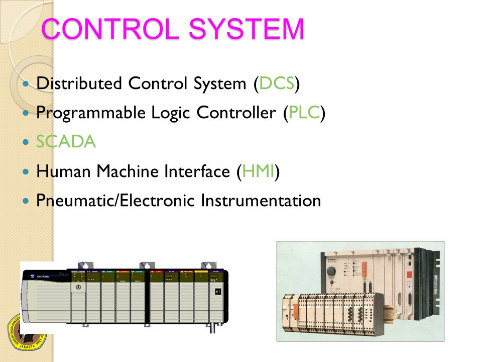 CONTROL SYSTEM Distributed Control System (DCS)