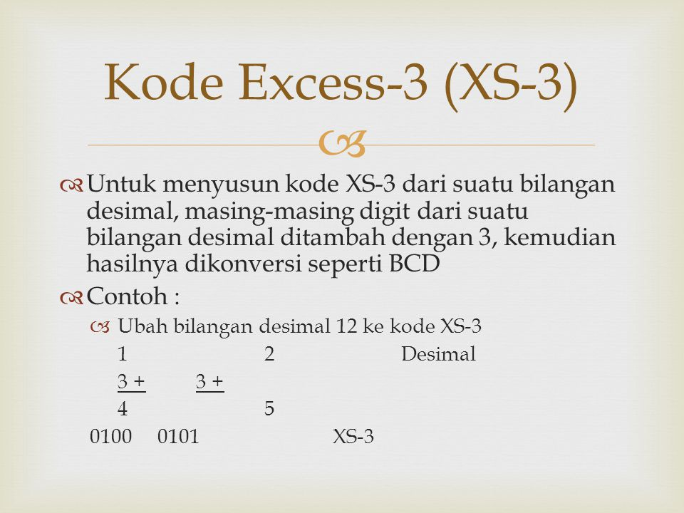 Kode Excess-3 (XS-3)