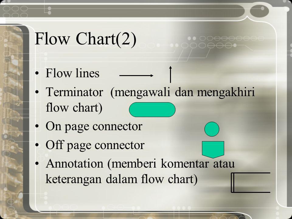 Flow Chart(2) Flow lines