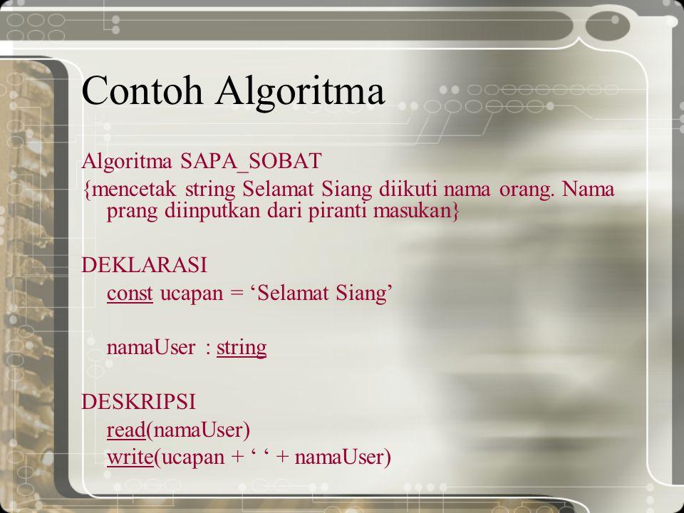 Contoh Algoritma Algoritma SAPA_SOBAT