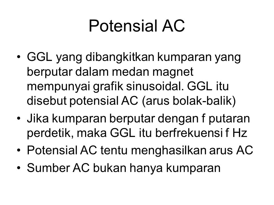 Potensial AC