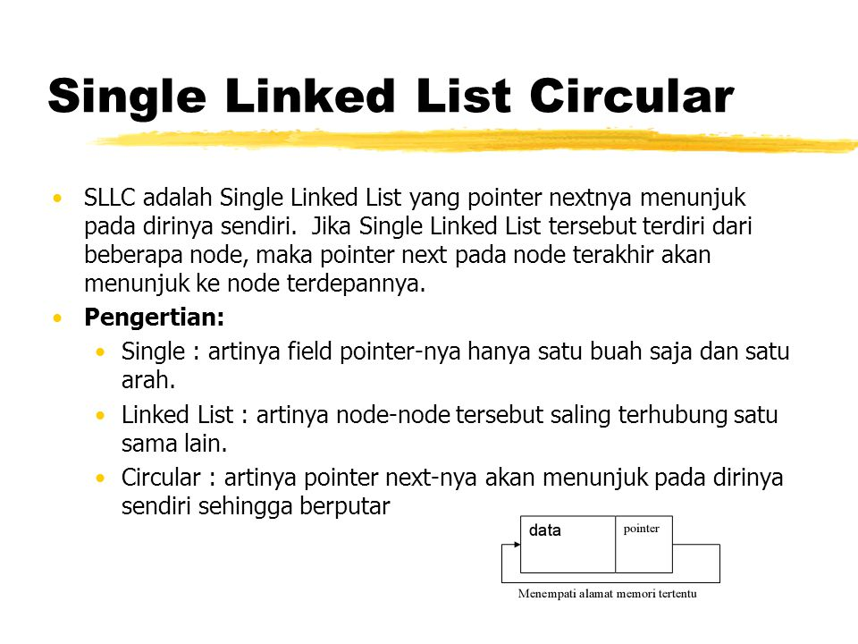 Single Linked List Circular