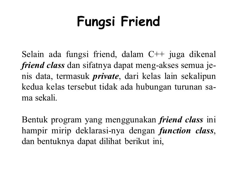 Fungsi Friend