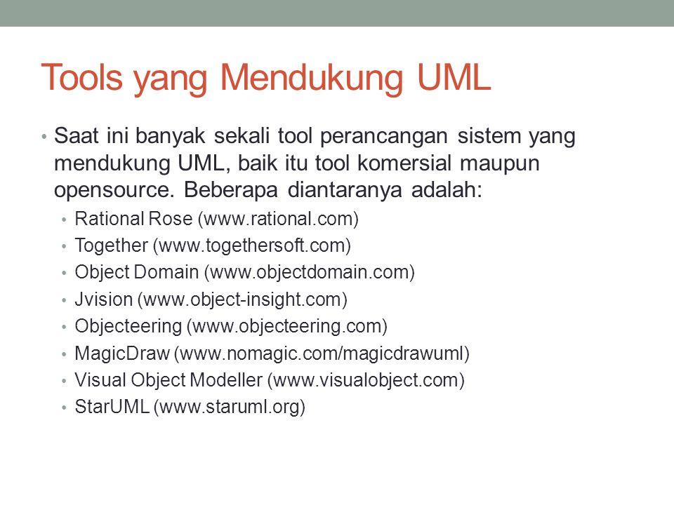 Tools yang Mendukung UML
