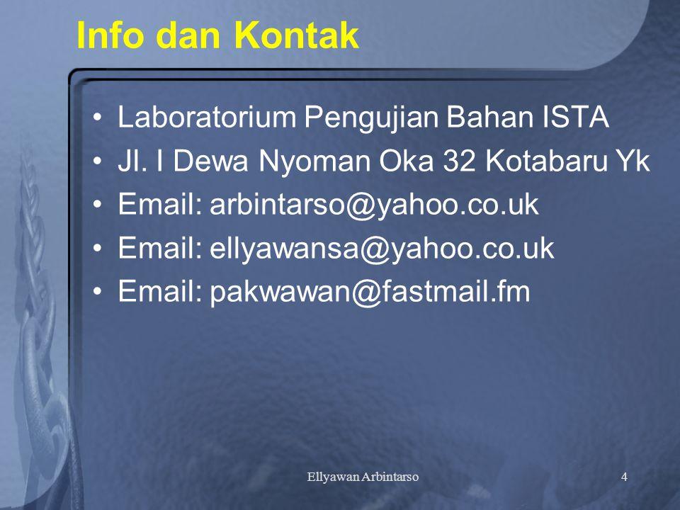 Info dan Kontak Laboratorium Pengujian Bahan ISTA