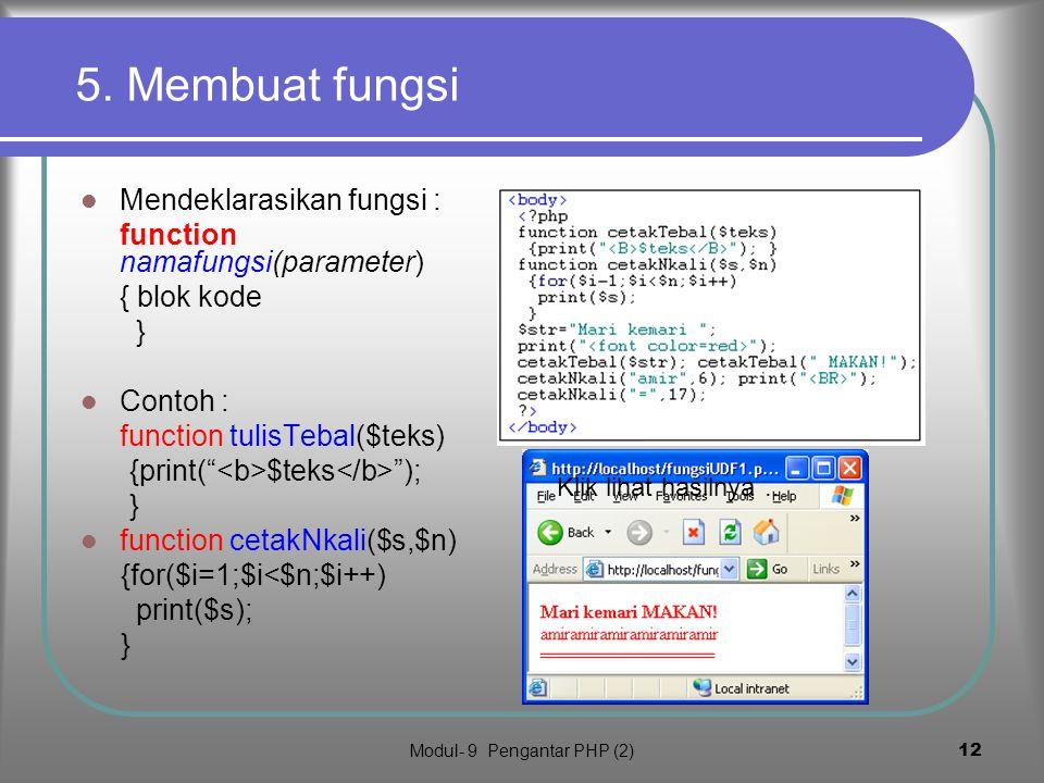 Modul- 9 Pengantar PHP (2)