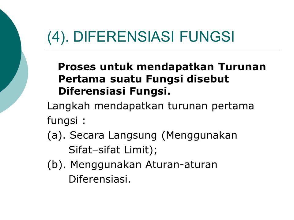(4). DIFERENSIASI FUNGSI