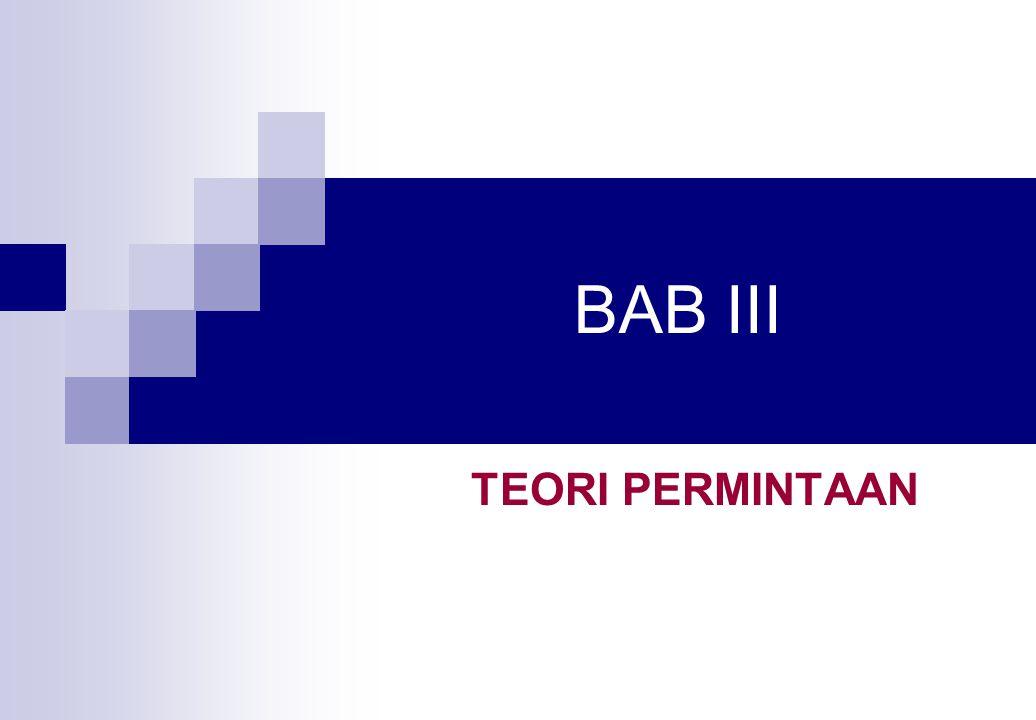BAB III TEORI PERMINTAAN