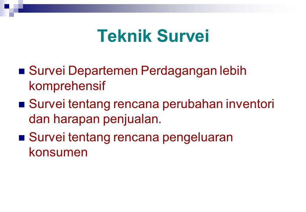 Teknik Survei Survei Departemen Perdagangan lebih komprehensif