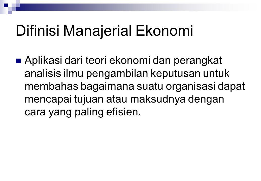 Difinisi Manajerial Ekonomi