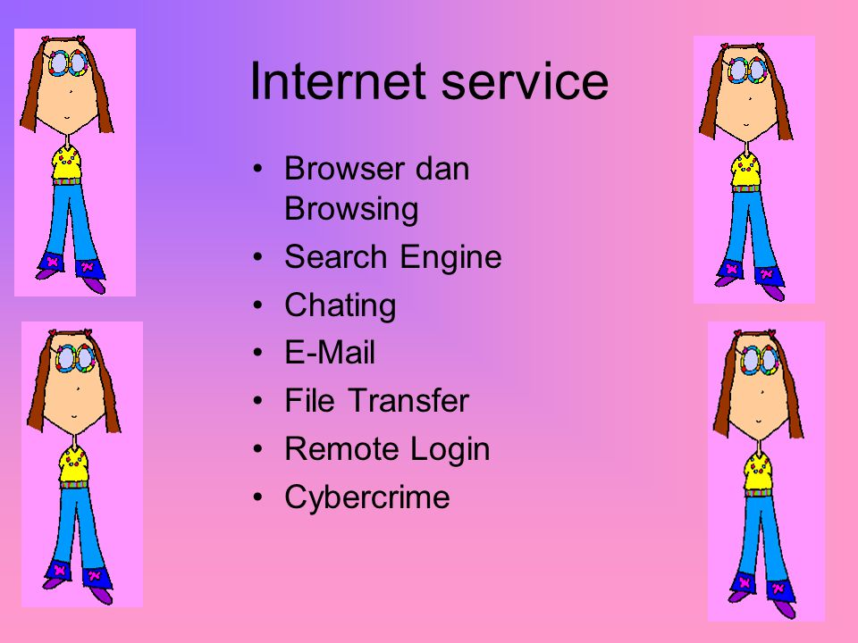 Internet service Browser dan Browsing Search Engine Chating E-Mail