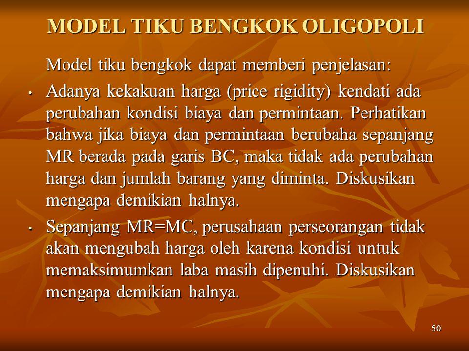 MODEL TIKU BENGKOK OLIGOPOLI