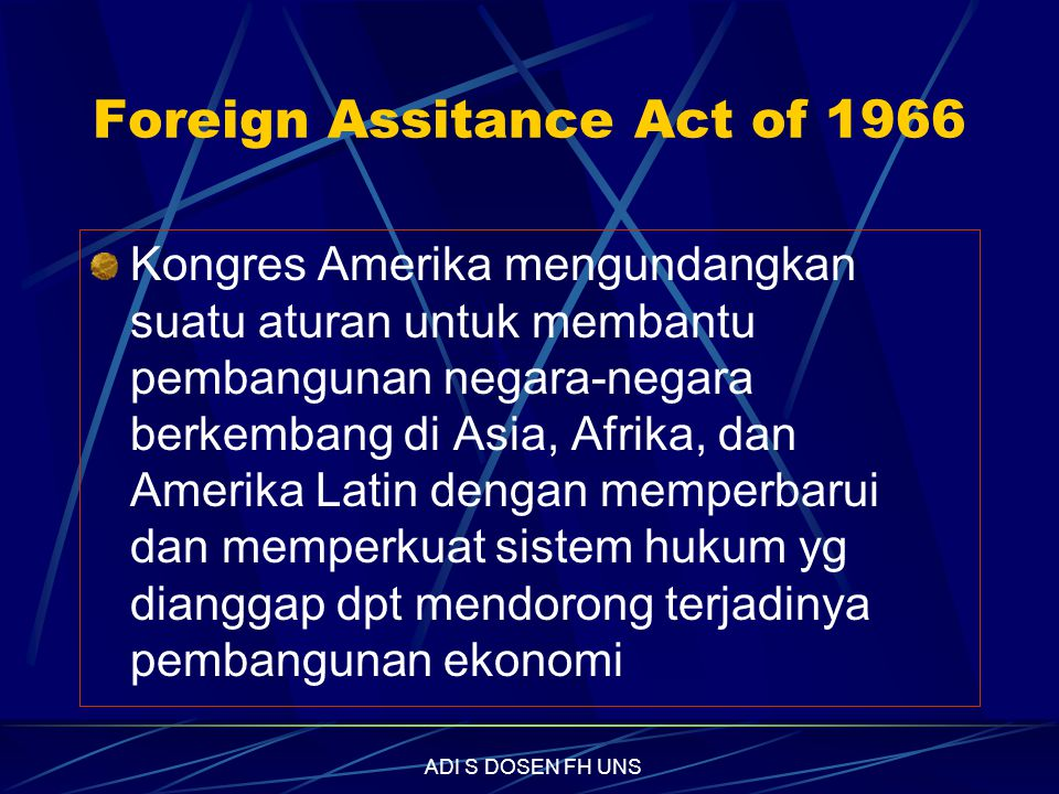 Foreign Assitance Act of 1966