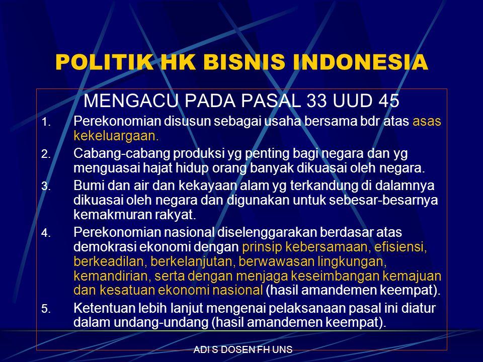 POLITIK HK BISNIS INDONESIA