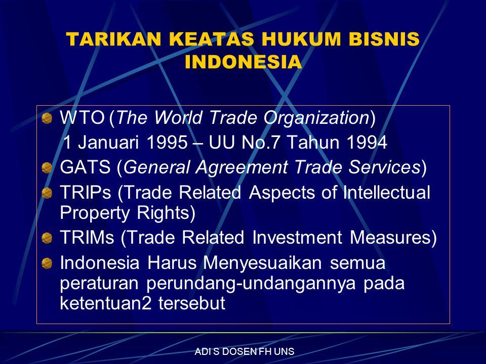 TARIKAN KEATAS HUKUM BISNIS INDONESIA