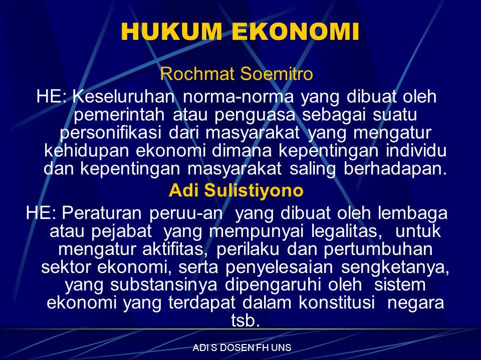 HUKUM EKONOMI Rochmat Soemitro