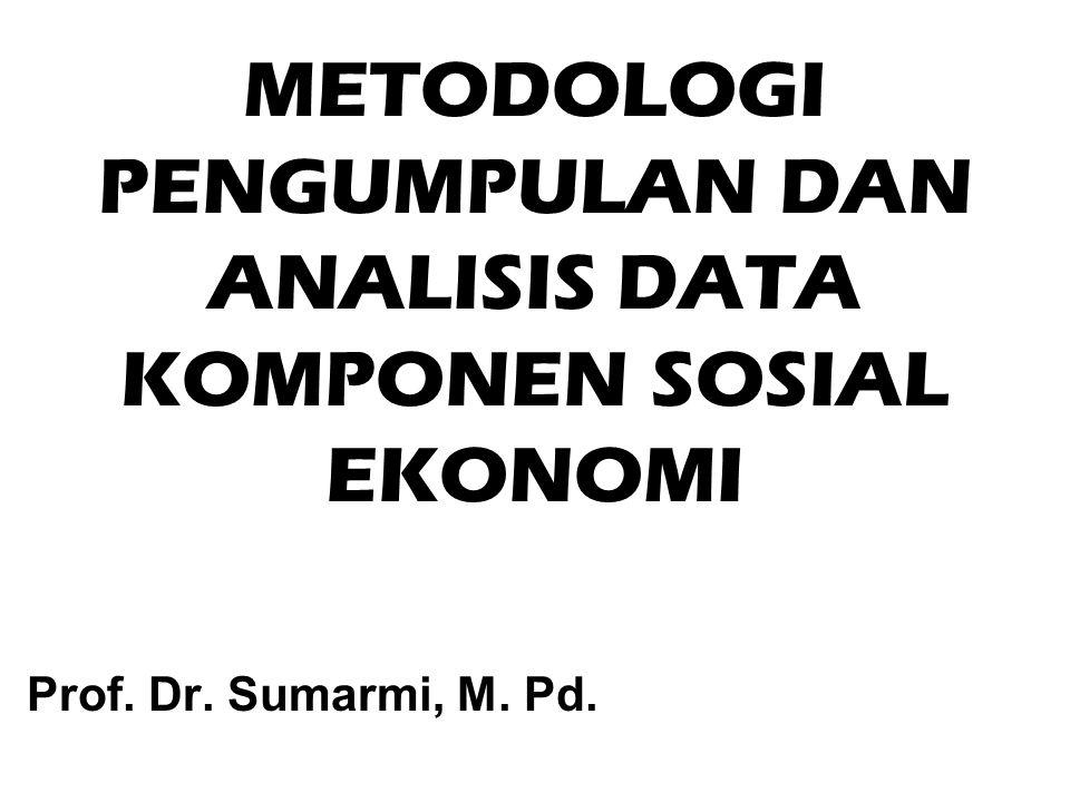 METODOLOGI PENGUMPULAN DAN ANALISIS DATA KOMPONEN SOSIAL EKONOMI