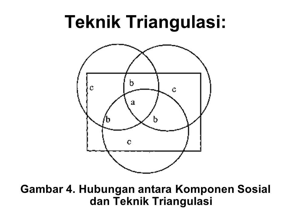 Gambar 4. Hubungan antara Komponen Sosial dan Teknik Triangulasi