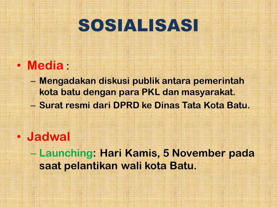 SOSIALISASI Media : Jadwal