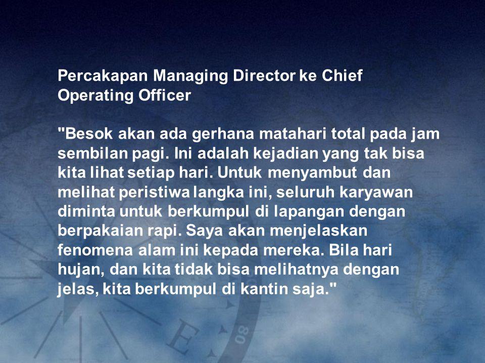 Percakapan Managing Director ke Chief Operating Officer
