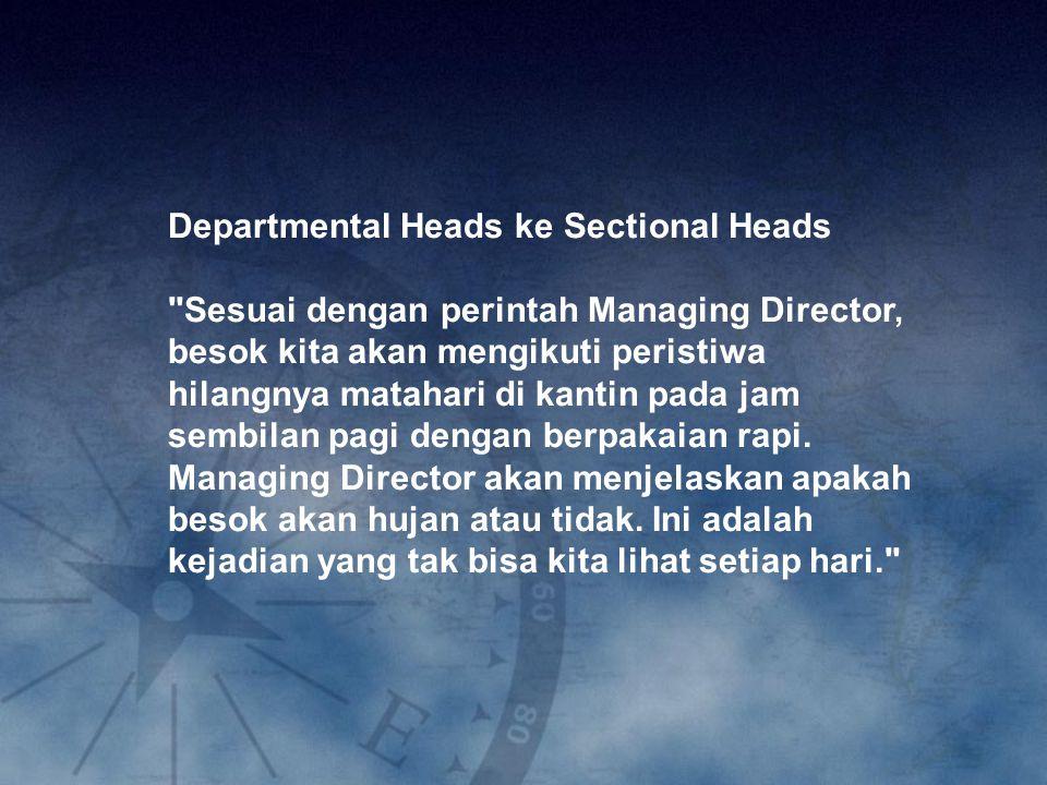 Departmental Heads ke Sectional Heads