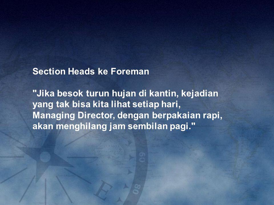 Section Heads ke Foreman