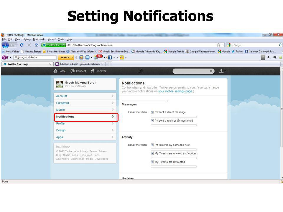 Setting Notifications