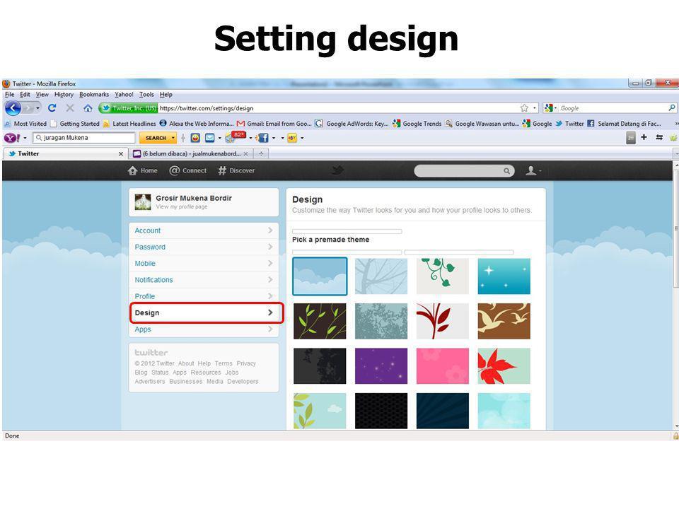 Setting design
